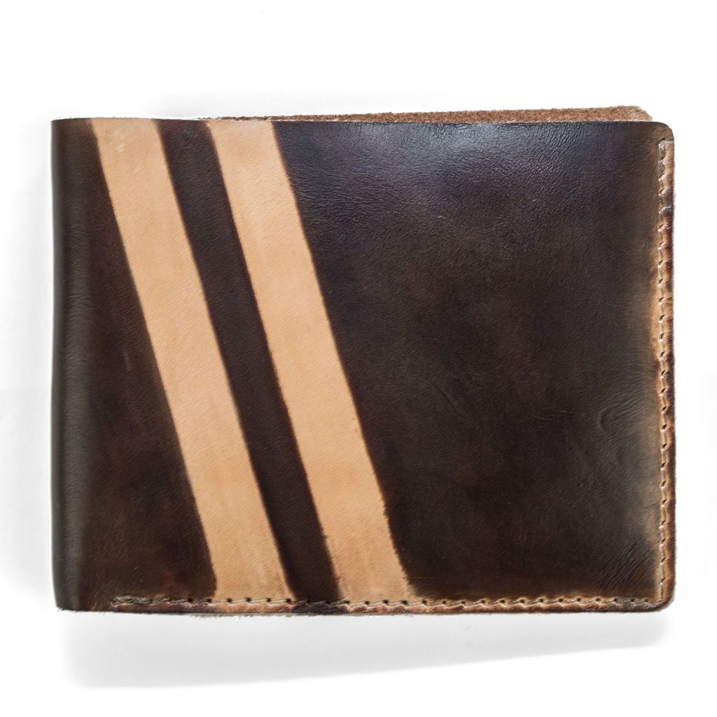 J.FOLD Roadster Screen Strip Leather Wallet - Brown