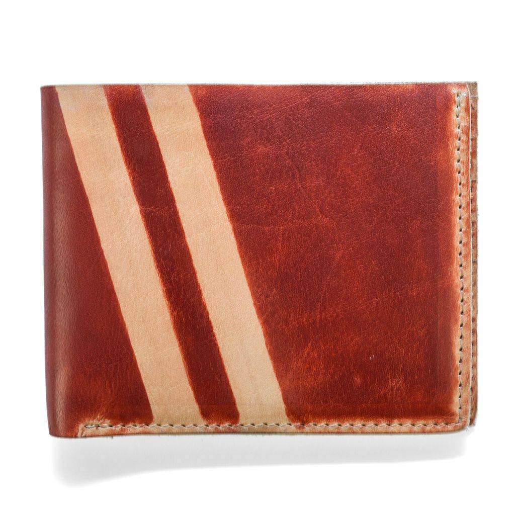 J.FOLD Roadster Screen Strip Leather Wallet - Red