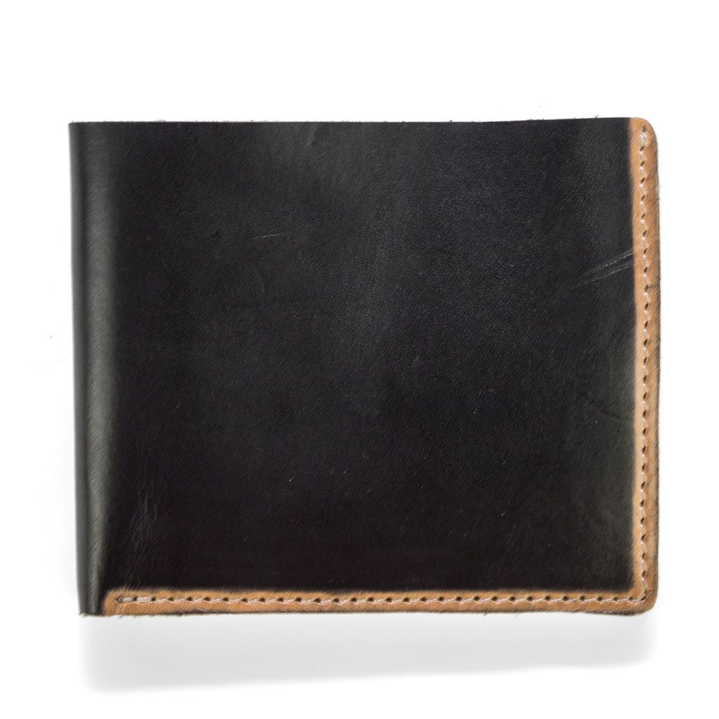 J.FOLD Hand Stained Leather Wallet - Black