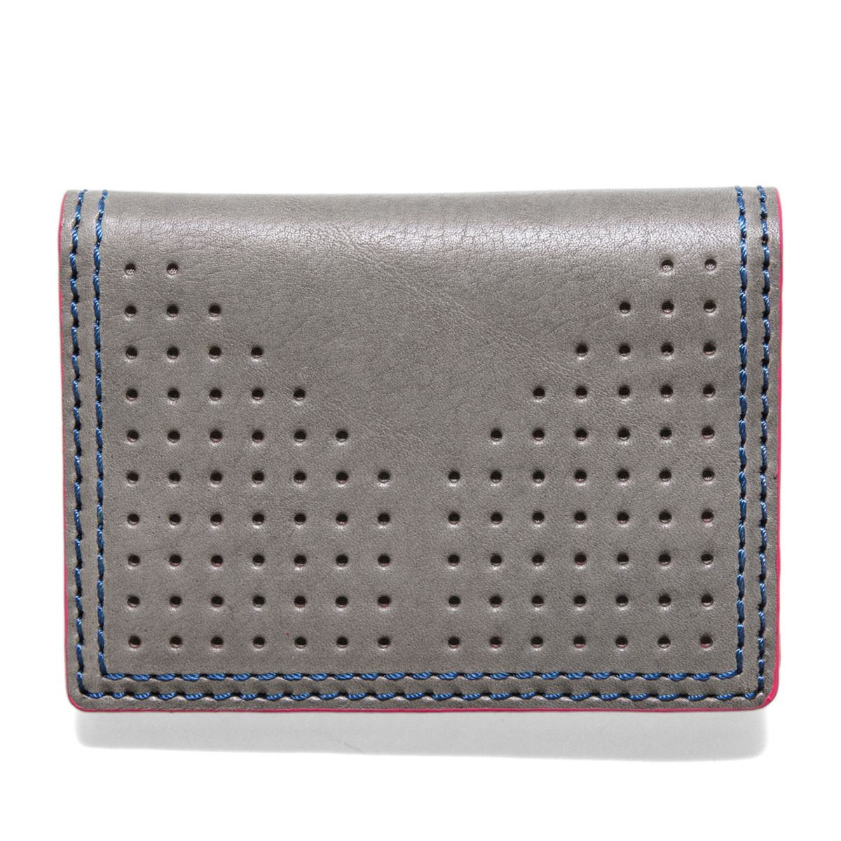 J.FOLD AIRWAVE Folding Carrier Leather Wallet - Grey