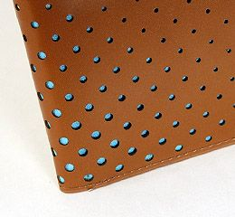 J.FOLD Supersonic 2 Leather Wallet - Brown/Sky Blue