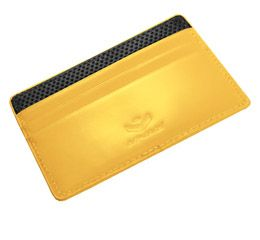 Flat Carrier Leather Wallet - Yellow