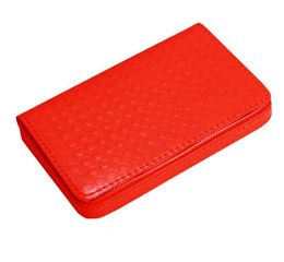 J.FOLD Leather Business Card Carrier - Red