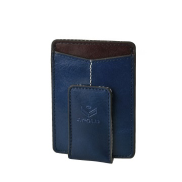 J.FOLD Magnetic Money Clip Wallet - Cobalt