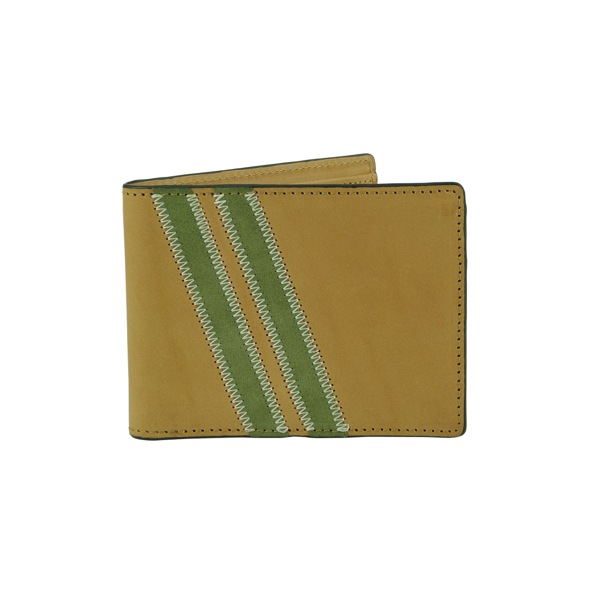 J.FOLD Zig Zag Roadster Leather Wallet - Tan
