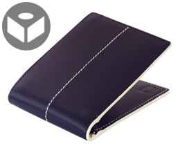 J.FOLD Thunderbird Leather Wallet with Coin Pouch - Navy