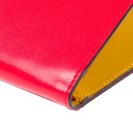 J.FOLD V-Twelve Leather Wallet with Coin Pouch - Red