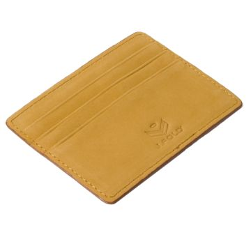 J.FOLD Flat Carrier Leather Wallet - Camel