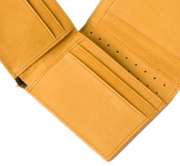 J.FOLD Marshal Leather Wallet - Camel
