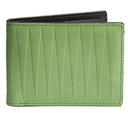 J.FOLD Leather Wallet with Coin Pouch Isosceles - Green