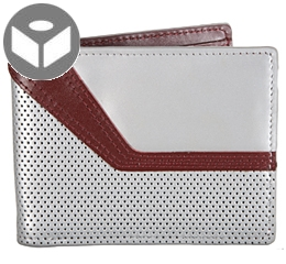 Jetstream Leather Wallet with Coin Pouch - Silver