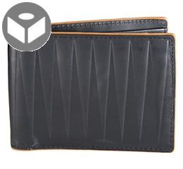 J.FOLD IsoscelesLeather Wallet with Coin Pouch - Black