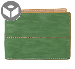 J.FOLD Thunderbird Leather Wallet with Coin Pouch - Green