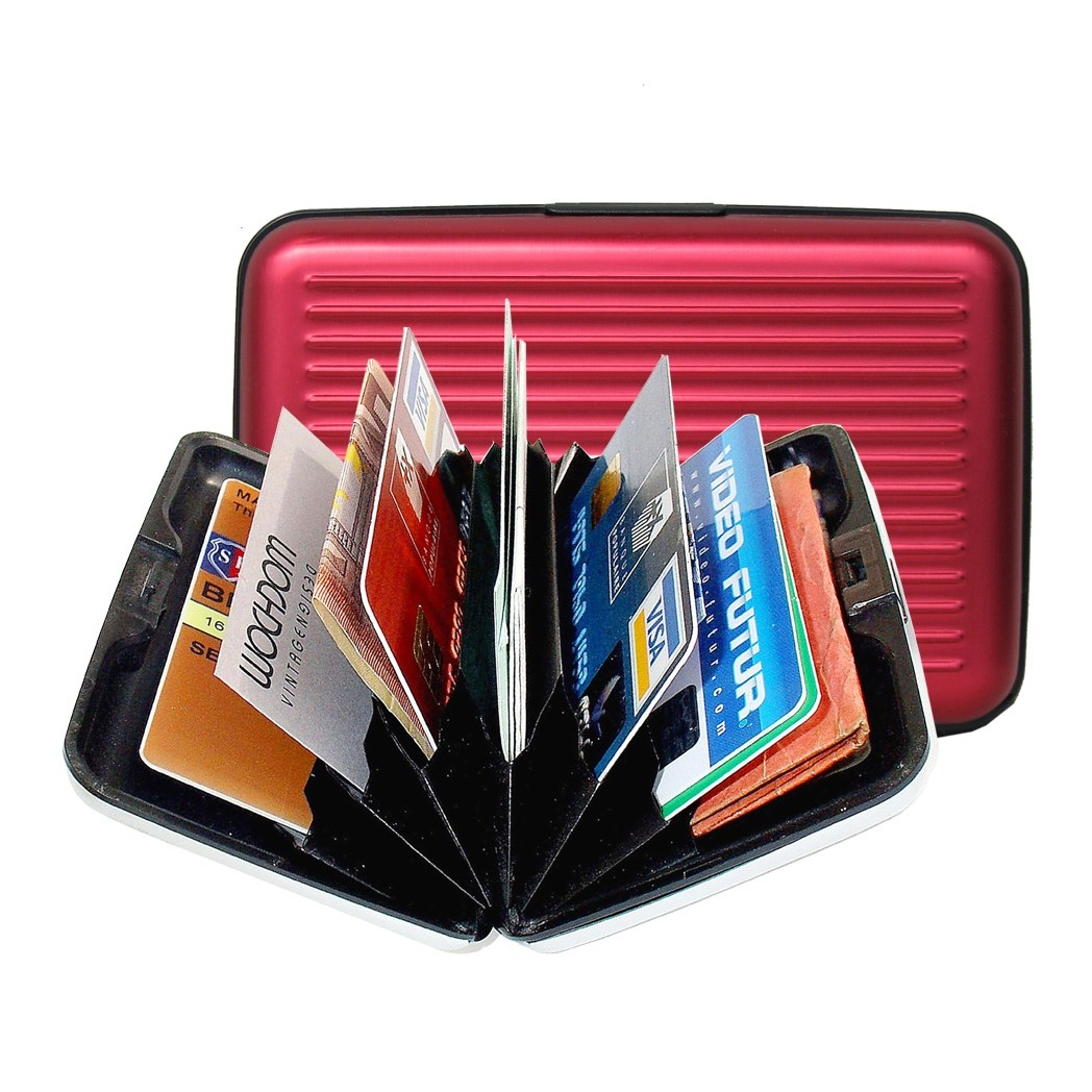 OGON Aluminum Wallet - Red