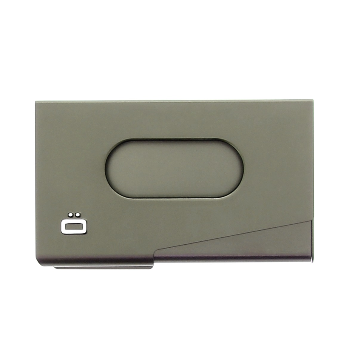 OGON Aluminum Business card holder One Touch - Dark Grey
