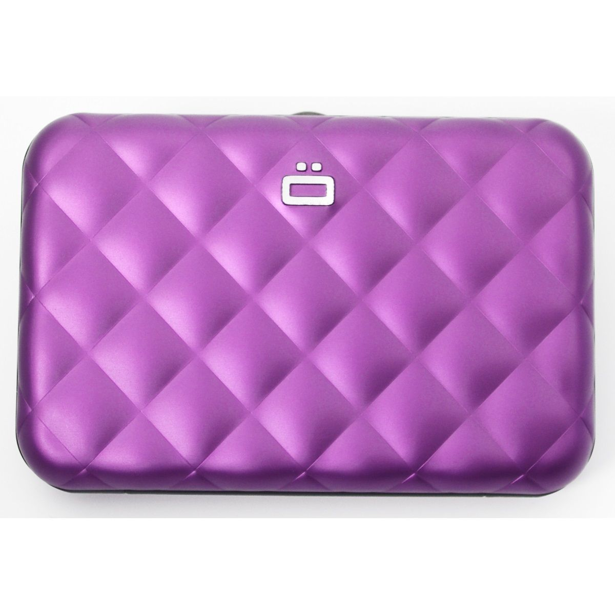 OGON Aluminum Wallet Quilted Button - Purple