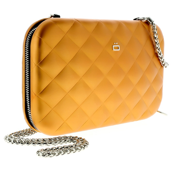 OGON Aluminum Clutch Quilted Lady Bag - Orange