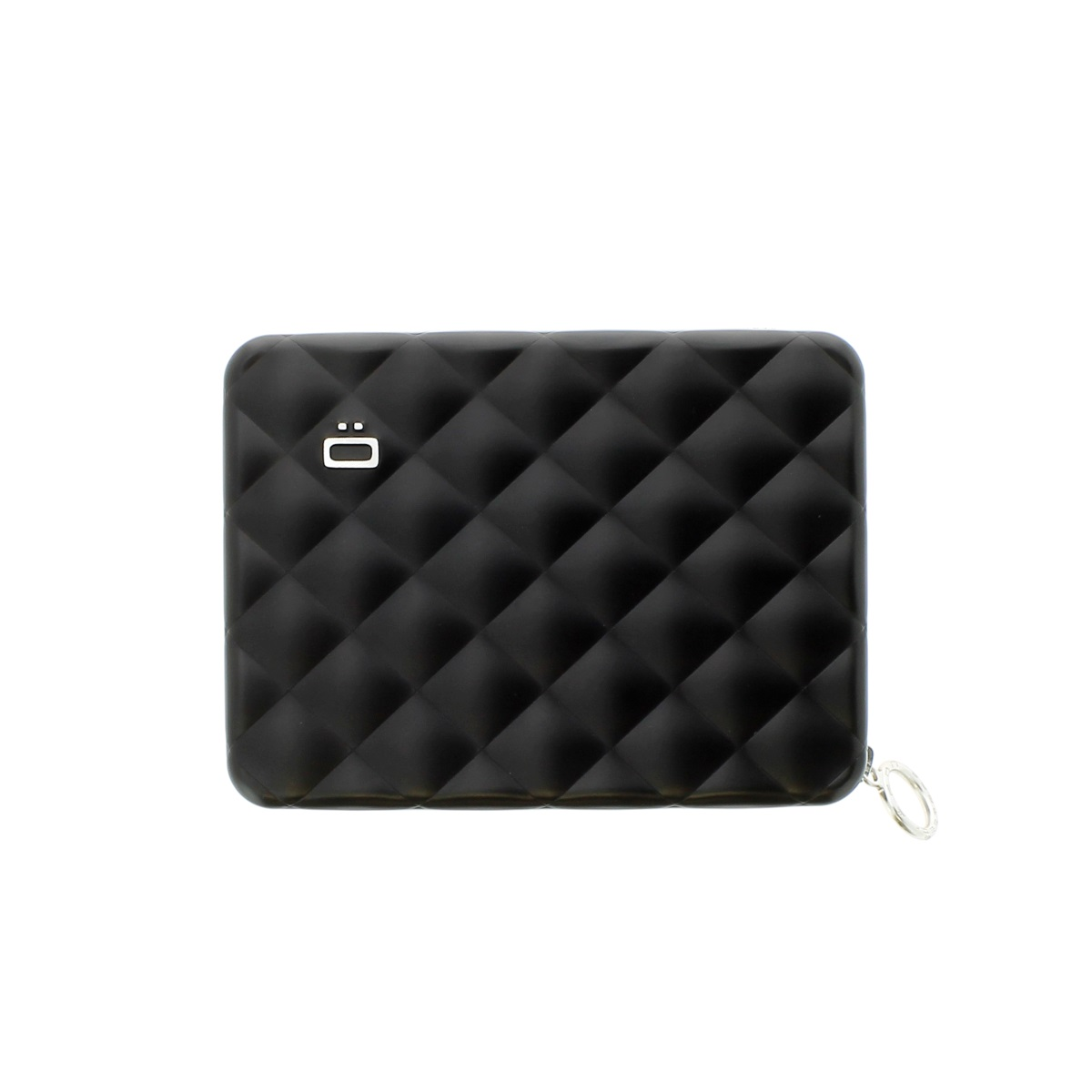 OGON Aluminum Wallet Quilted Passport - Black