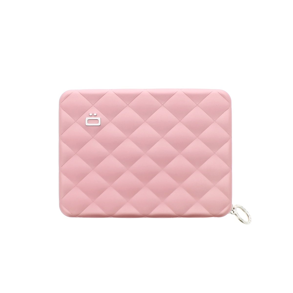 OGON Aluminum Wallet Quilted Passport - Pink