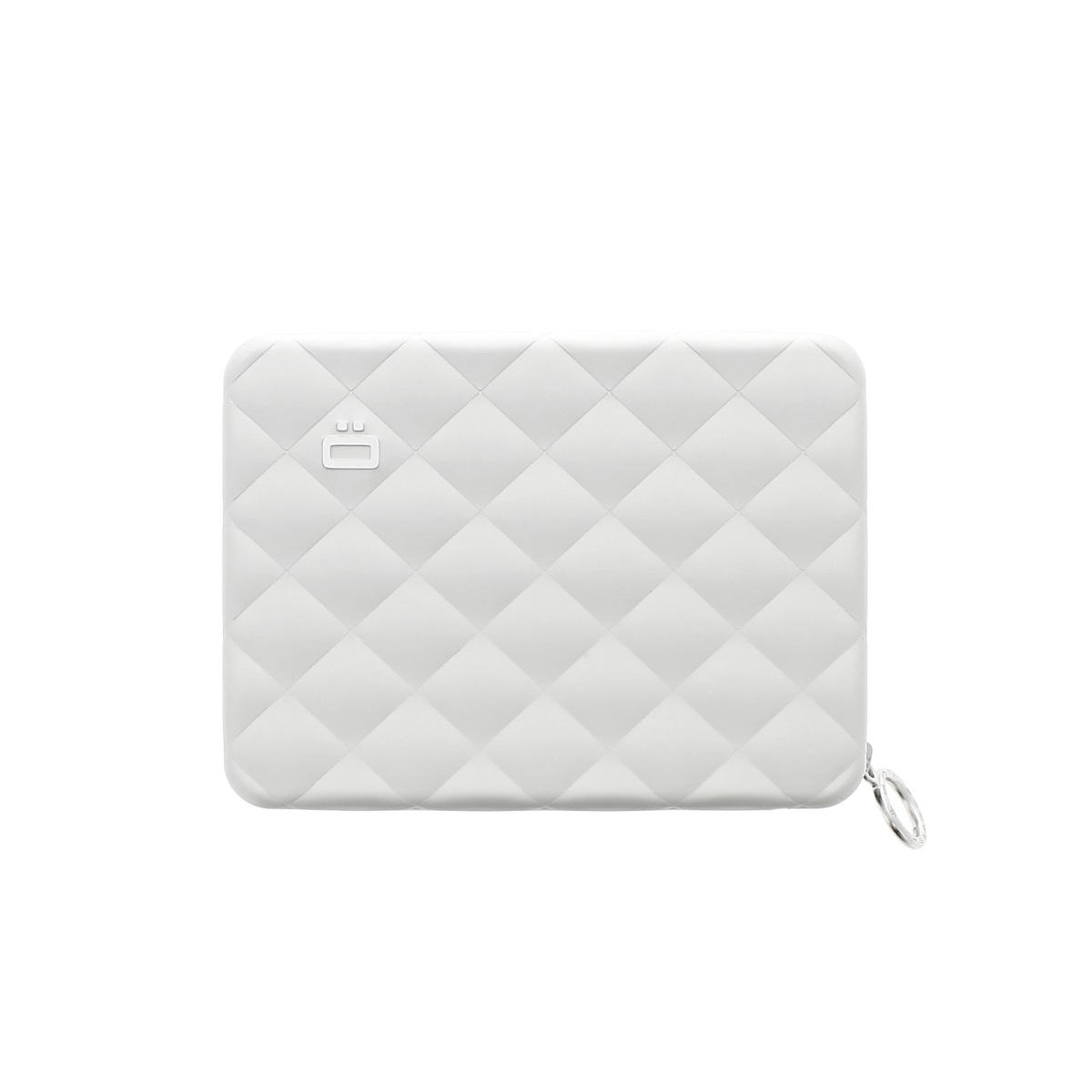 OGON Aluminum Wallet Quilted Passport - Silver