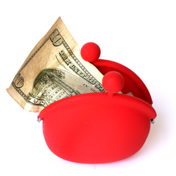 POCHI Silicone Coin Wallet - Red
