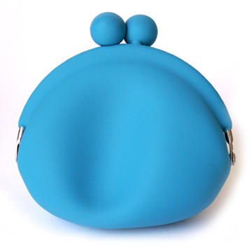 Silicone Coin Wallet - Blue