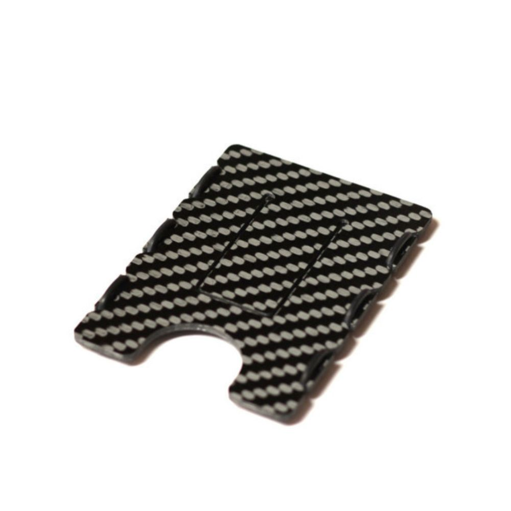 slimTECH Carbon Fiber Wallet With Money Clip - Carbon Gloss
