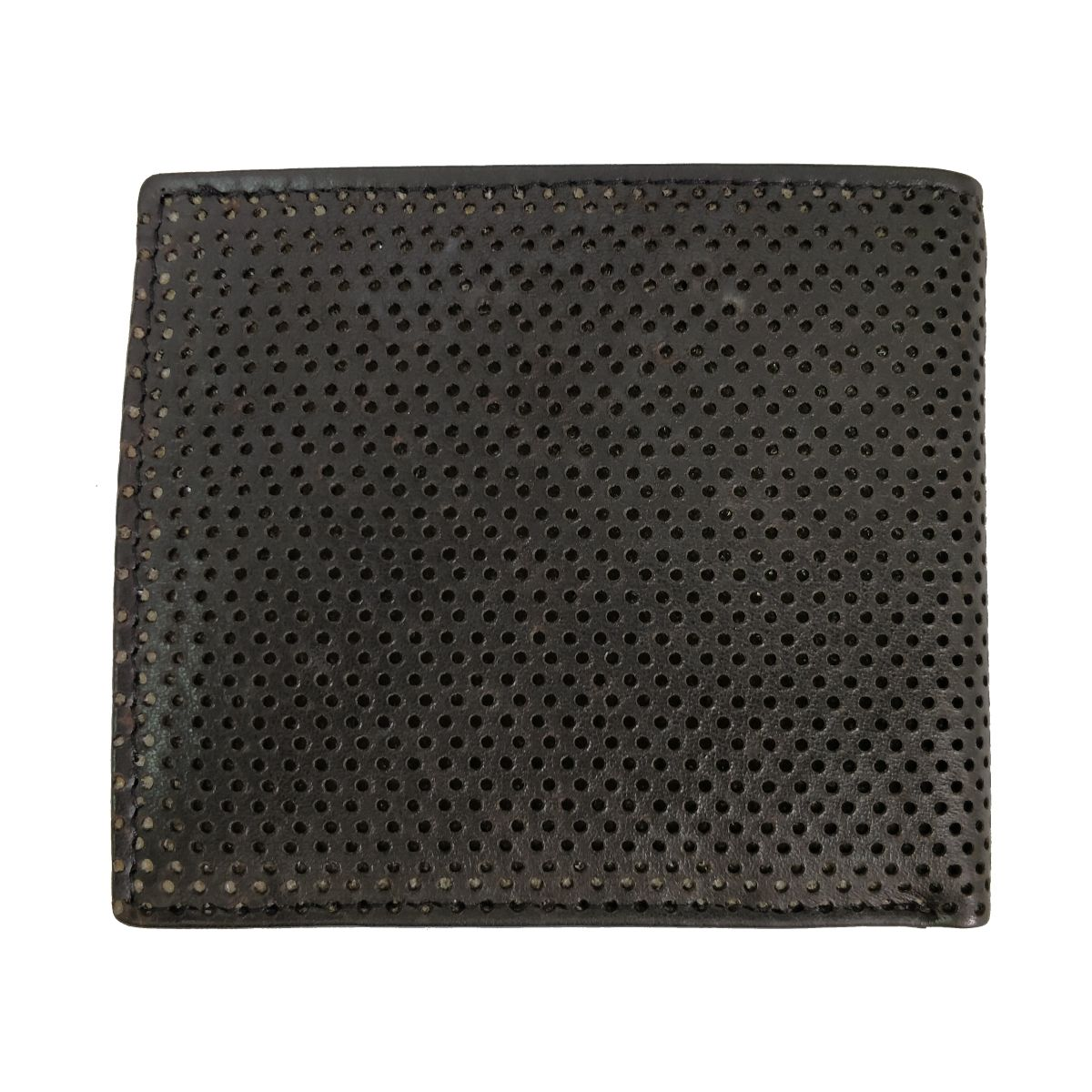 solo Leather Wallet With Broken Strip and Coin Pouch - Black/Blue