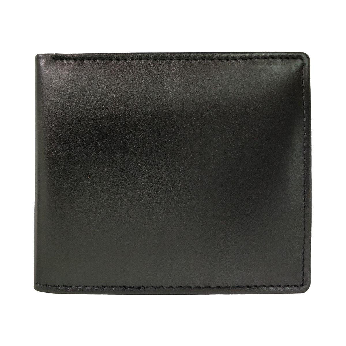 solo Leather Wallet 2 Strips and Coin Pouch - Black