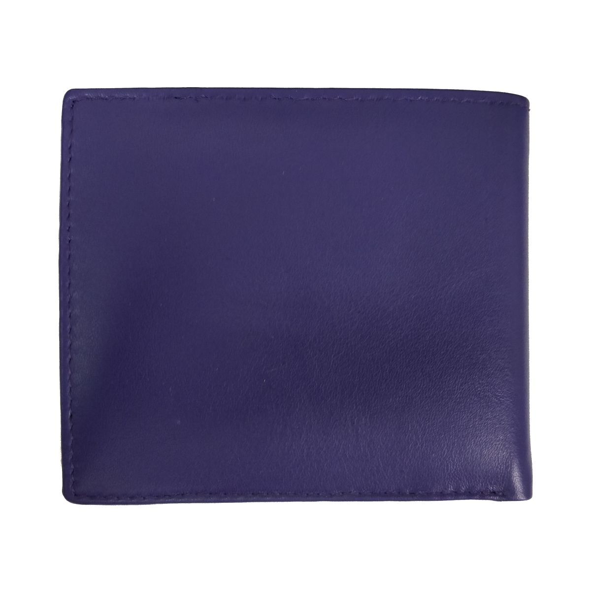 solo Leather Wallet 2 Strips and Coin Pouch - Blue