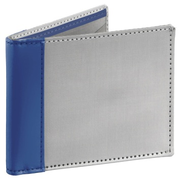 Stainless Steel Wallet - Silver/Blue
