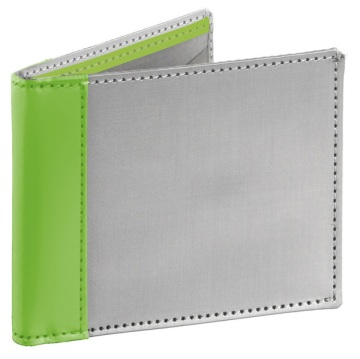 Stainless Steel Wallet - Silver/Lime