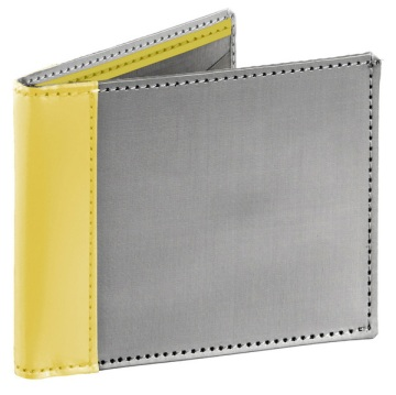 Stewart/Stand Stainless Steel Wallet - Silver/Yellow