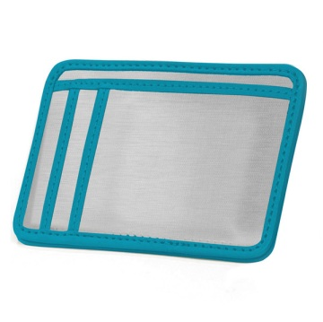 Stainless Steel Minimal Wallet - Silver/Light Blue