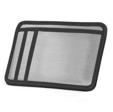 Stainless Steel Minimal Wallet - Silver/Black