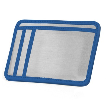 Stainless Steel Minimal Wallet - Silver/Blue