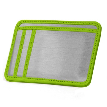 Stainless Steel Minimal Wallet - Silver/Green
