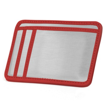 Stainless Steel Minimal Wallet - Silver/Red