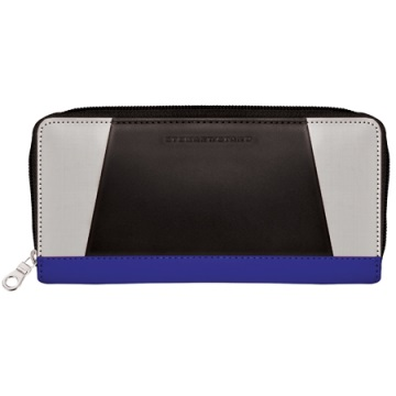 Stewart/Stand Zipper Wallet  - Black / Silver