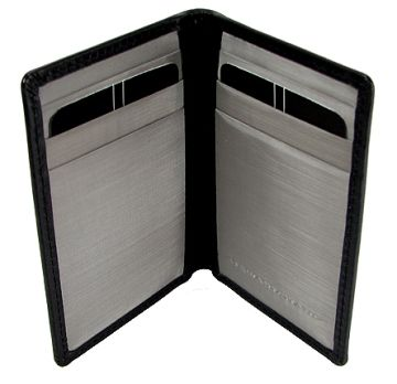 Stewart/Stand Stainless Steel Driving Wallet - Black/Silver