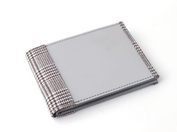 Stainless Steel Wallet  - Houndstooth