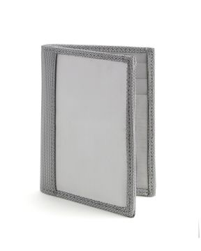 Stewart/Stand Stainless Steel Driving Wallet with Window - Silver