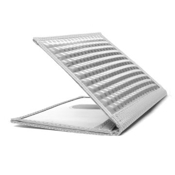 Stainless Steel Driving Wallet with Window - Silver Texture