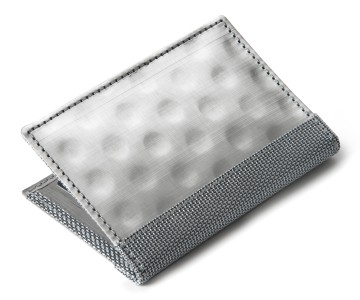 Stainless Steel Driving Wallet with Window - Silver