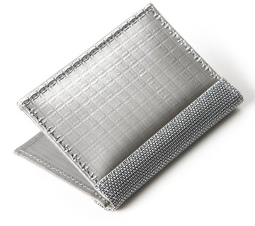 Stewart/Stand Stainless Steel Driving Wallet with Window - Black/Silver