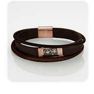 STORM London Cog Leather Bracelet - Brown