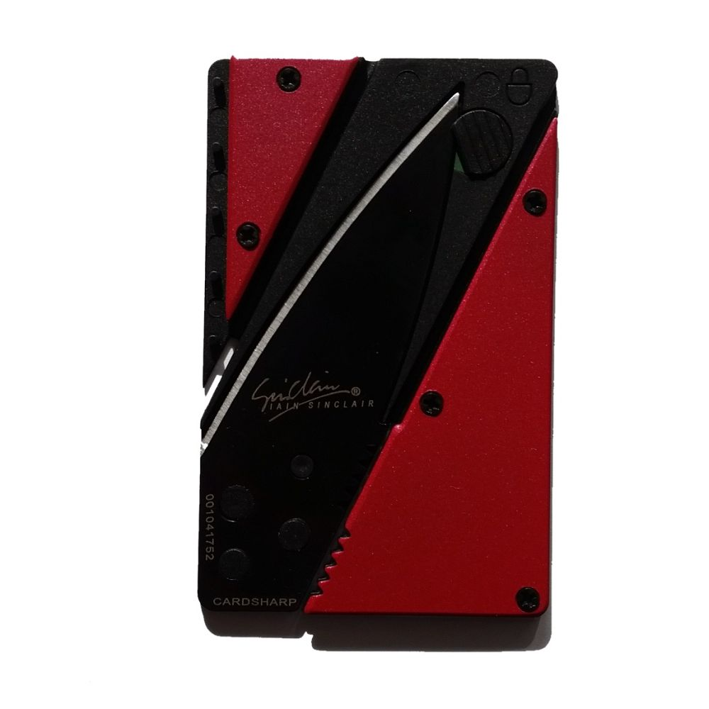 WALLET Aluminum Card Sharp Wallet - Red