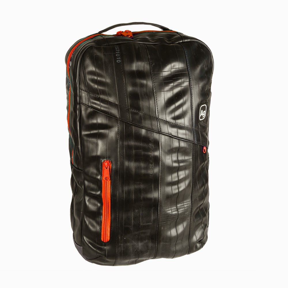 Alchemy Goods Recycled Brooklyn Backpack - Black/Orange