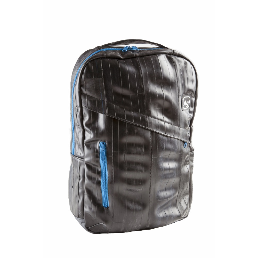 Alchemy Goods Recycled Brooklyn Backpack - Black/Blue