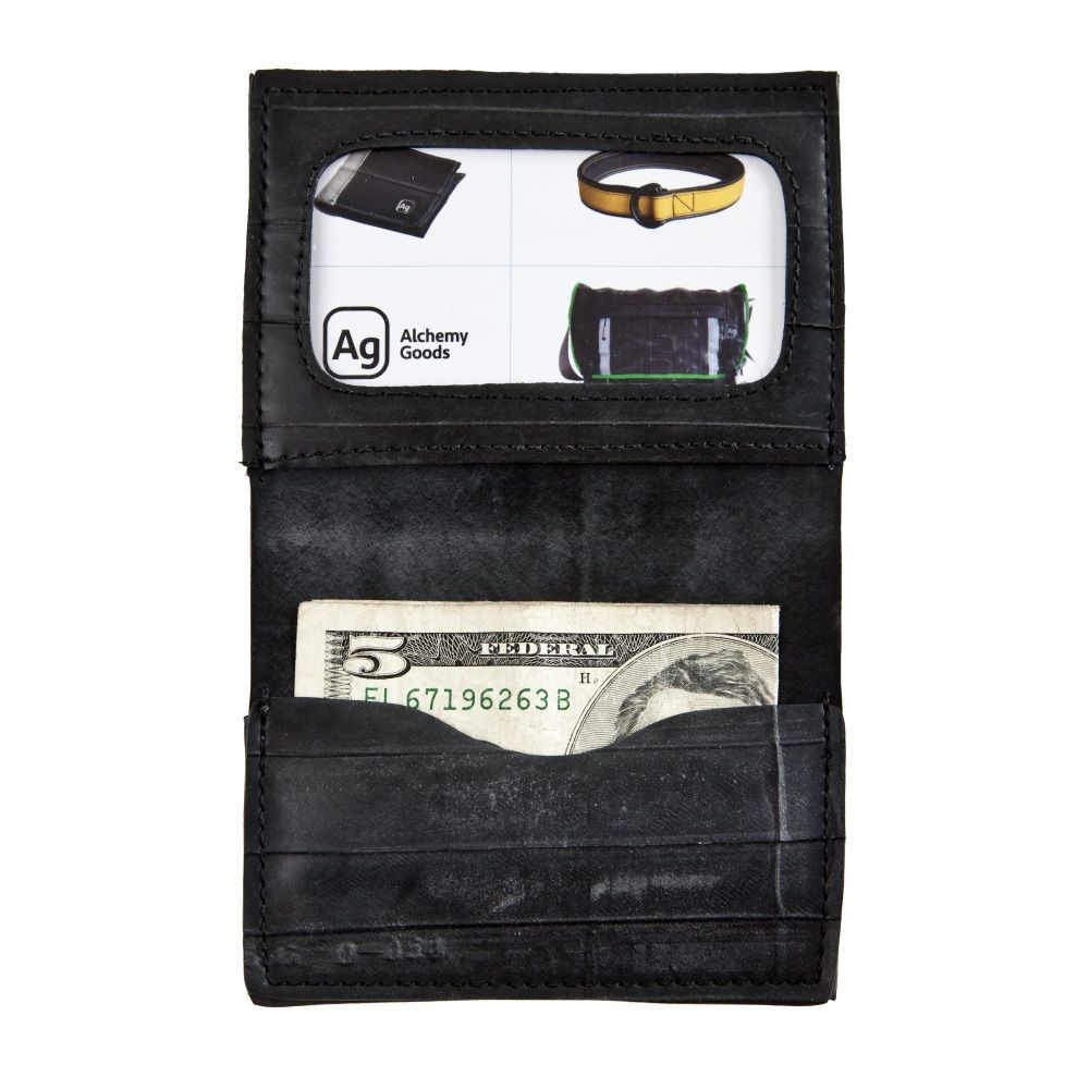 Alchemy Goods Recycled Belltown Wallet - Black